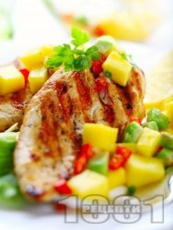 Пилешки гърди на скара с лимонова марината - снимка на рецептата